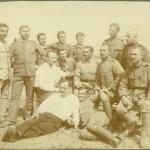 Български пленници подофицери от депото при арсенала /Ефраия/ в Атина, октомври 1919 г.